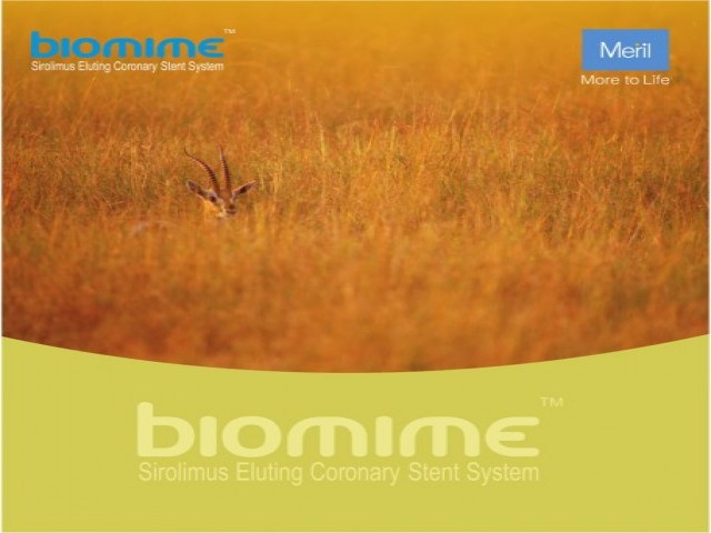 """Meril"" Biomime-Sirolimus Eluting Coronary Stent System"