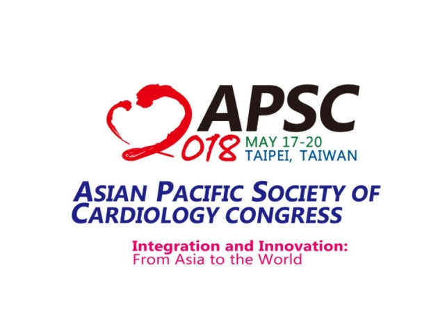 2018,5/17 ~ 5/20 Asian Pacific Society of Cardiology Congress
