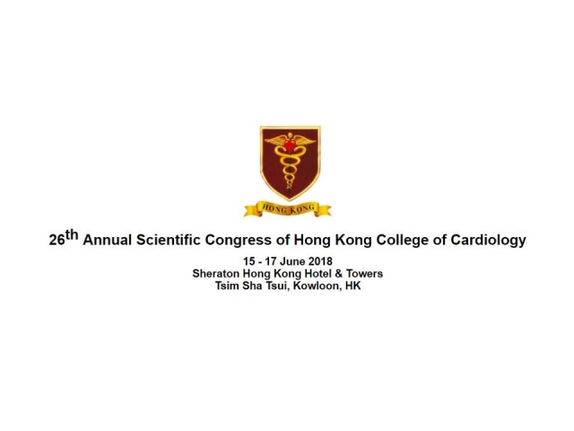2018,6/15 ~ 6/17 HKCC 26th Annual Scientific Congress